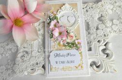 Ślubna kartka DL w pudełku 102