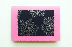 Kartka świąteczna-płatki śniegu
