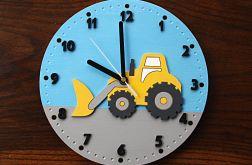 Zegar dla dziecka z koparką