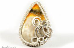 Srebrny pierścionek z jaspisem trzmielim