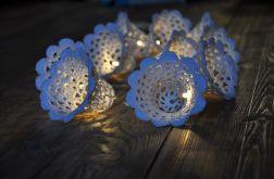 Girlanda świetlna- szydełkowe dzwonki 10sz