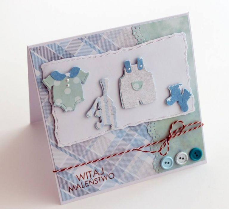 Kartka na chrzest lub z okazji narodzin (w pudełku)