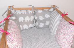 Modułowy ochraniacz do łóżeczka 6 szt N33