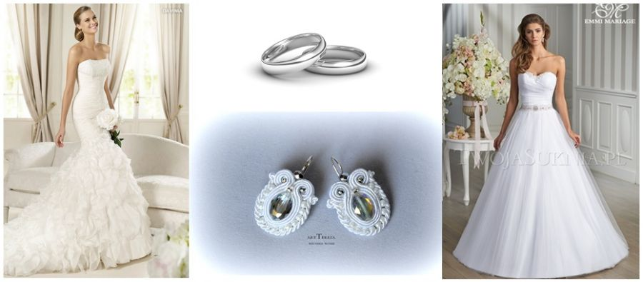 kolczyki sutasz ślubne z kryształami