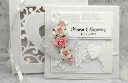 Piękna kartka ślubna w pudełku serca SLB 051