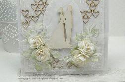 Z serduszkami na ślub- kartka w pudełku