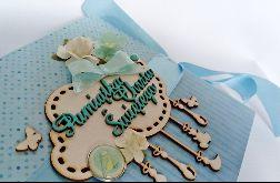 Kartka na chrzest w błękitach 01 prezent, pamiątka, pudełko