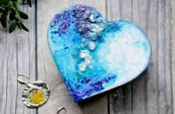 Szkatułka serce z opalem