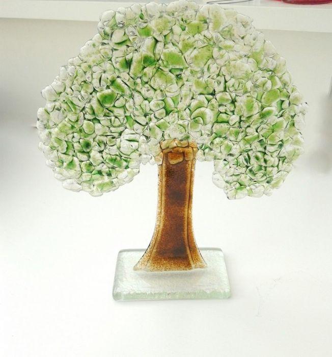 Drzewo ze szkła fusing -