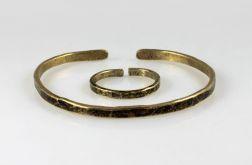 Mosiężna bransoletka + obrączka 200131-06