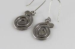Ślimaki - srebrne kolczyki 150804-04