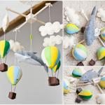 Karuzela nad łóżeczko - baloniki nr 01