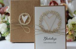Stylowa kartka ślubna 11