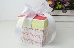 Ślubny Exploding box z flamingami