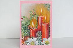 Kartka świąteczna ze świecami 12