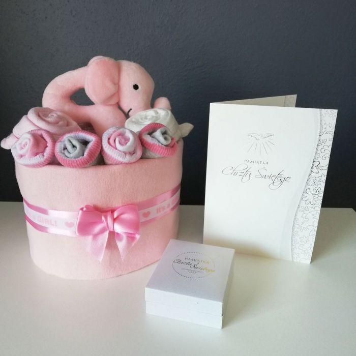 MINI Tort wyprawkowy - różowy