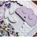 Różowa - kartka dziecięca