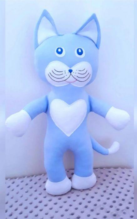 Kot,kotek,maskotka,niebieski.