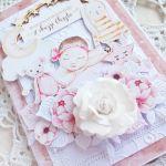 Kartka na chrzest Baby Joy dziewczynka GOTOWA -