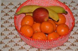 Szydełkowy koszyk na owoce