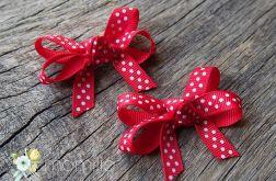 RAINBOW Spinki kokardki RED