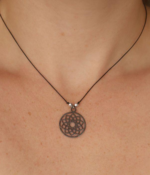 Medalion mandala naszyjnik z wisiorkiem - zawieszka na szyję