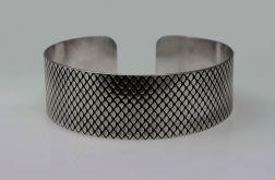 Metalowa bransoleta - rybia łuska 190814-03