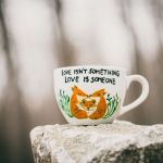 Duży kubek lisy - love dont isn't something - null