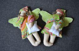 Zabawka tekstylna - Aniołek zielony