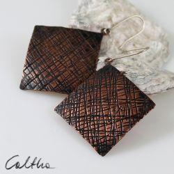 Kora - miedziane kolczyki 141225-01