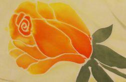 Szal jedwabny jesienna róża