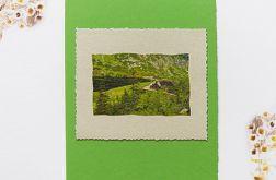 Kartka uniwersalna zielona górski widoczek