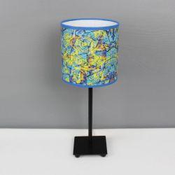 "Błękitno-żółta lampa nocna ""sEN kOSIARZA 2"" S"