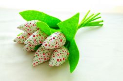 Tulipan 100% bawełna 10szt białe kwi