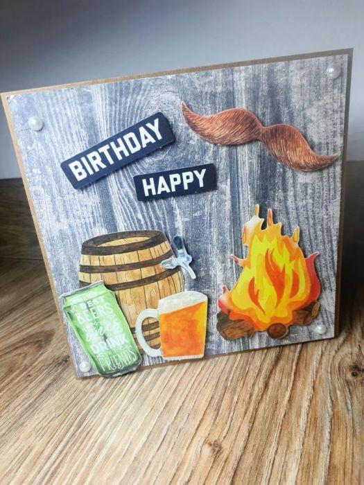 Kartka okolicznościowa #3 piwo piwosz ognisko ogień  - 2