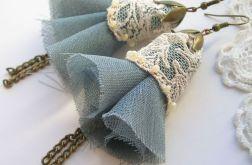 Cream lace - kolczyki vintage