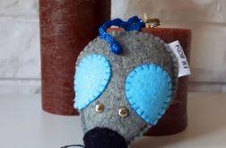 Myszka ~ brelok / zawieszka / błękitny