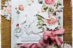 Rowerowy ślub - kartka ślubna