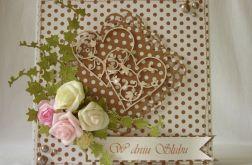 Brąz, biel i róż na ślub