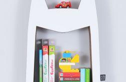 Półka na książki zabawki HERO | biały