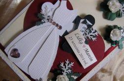 Kartka ślubna puzle