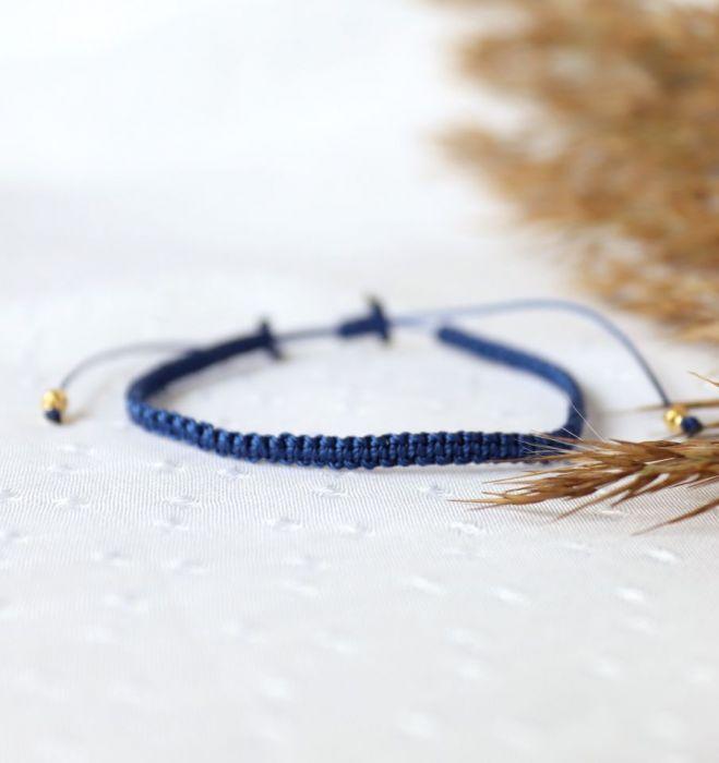 Niebieska pleciona bransoletka Relva - Bransoletka na nadgarstek