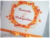 Zaproszenie - zawiadomienie na Ślub z motylkami