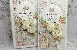Romantyczna Kartka na Ślub w pudełku SLB 010