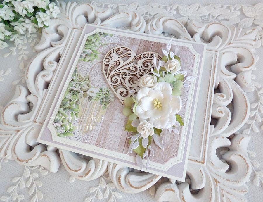 Ślubna kartka w pudełku 448 -