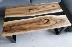 Stolik kawowy ława stolik z orzecha żywica -
