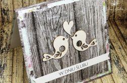 Kartka ślubna -zakochane ptaszki