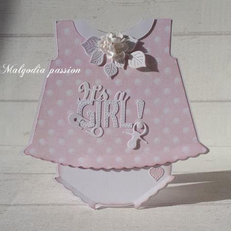 Kartka w kształcie ubranka
