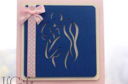 kartka na chrzest lub narodziny dziewczynki