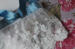 Podwiązka ślubna oryginalna, wiązana
